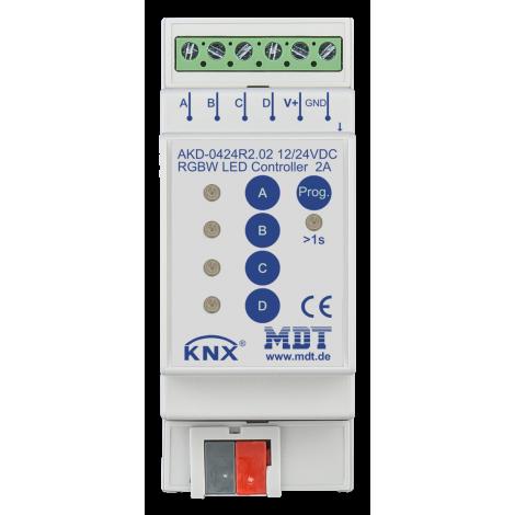 AKD-0424R2 02: LED Controller 4-channel, 2/4 A, RGBW